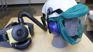 Hengityksensuoja in P3 moottoroitu maski kypärä kuulosuojaimet